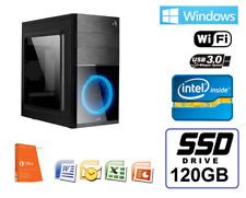 Ordenador Sobremesa intel WIFI 4gb 120SSD USB 3.0 HDMI win 10 + office+antivirus