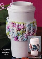 EASY Coffee Time Cup Cozy/CROCHET PATTERN INSTRUCTIONS ONLY