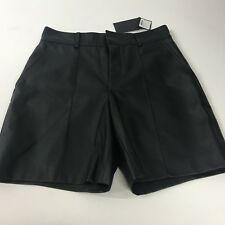 Club Monaco Suzanne Short Womens Sz2  Faux Leather NWT Black Pantaloon Courts So