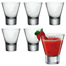6 x Bormioli Rocco Ypsilon Glass Cocktail Tumbler Glasses Dessert Drinking Cups