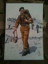 Military Postcard RAMC Royal Army Medical Corps 45 Commando 1944 by Alix Baker