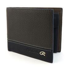 Grigio Da Uomo Lusso Morbido Di Qualità In pelle portafoglio borsa titolare della carta di credito FINESTRA ID