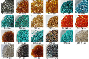 Japanese & Czech Bugle or Tube Glass Beads 29 Colors- Loose-15 Grams-Clearance