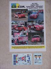 """DECALS C.B.COM. 1/43ème Xsara WRC """"RADSTRÖM-GIRAUDET"""" 1er MANTÄ RALLYE 2002"""