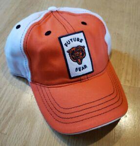 Chicago Bears Orange & White Toddler Adjustable Baseball Hat NWT