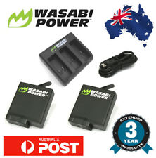 Wasabi Power Battery for GoPro HERO 6 2x 1220mAh batteries Triple USB Charger