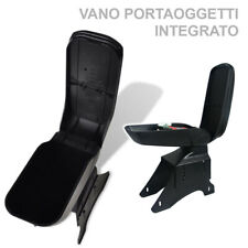 Bracciolo Portaoggetti Poggia Braccio Auto Centrale Universale Similpelle Nero