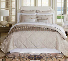 Sferra KENNIO Full Queen Quilt Quilted Coverlet Sable Egyptian Cotton  Sateen New