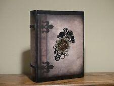STEAMPUNK BOX BOOK Secret Storage Book GEAR DECOR Steampunk Decor