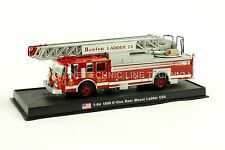 Giant Fire Truck E-One Rear Mount Ladder-1990 L 23 USA Diecast Model 1:64 No 15