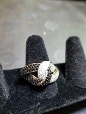Simulant Knot Ring Black & White Diamond