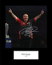PHIL TAYLOR #2 Signed 10x8 Mounted Photo Print - FREE DELIVERY