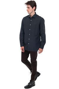 RRP €300 LUIGI BORRELLI NAPOLI Jacquard Shirt Size 41 L Polka Dot Made in Italy