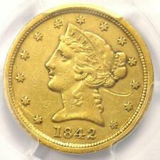 1842-C Liberty Gold Half Eagle $5 - PCGS XF Details - Rare Charlotte Gold Coin!