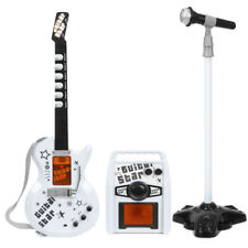 White kids Electric Guitar Set MP3 Player Learning Toys Microphone, Amp US