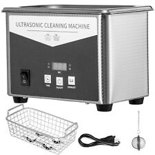 0.8L Digital Ultrasonic Cleaner Kit Sonic Bath Timer Jewellery Cleaning Tool