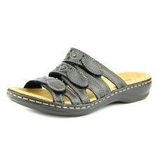 d01d186ad99 Clarks Leisa Cacti Q Womens Leather Slides Sandals Shoes 9