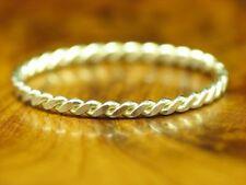 925 Sterling Silber Ring / geflochten / Echtsilber / 0,6g / RG56,5