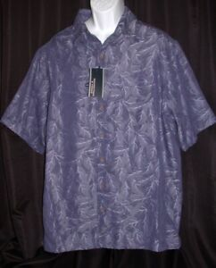 New ROUNDTREE & YORKE Mens Sz XLT XL Tall S/S Blue Button Shirt Square Tail NWT