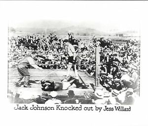 JACK JOHNSON KNOCKED OUT BY JESS WILLARD PHOTO BOXING PICTURE