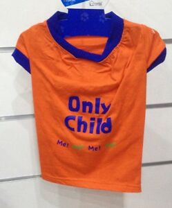 Tee T Shirt Orange Only Child Small Size Backpack S 9 13/16in New For CHIEN