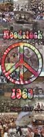 WOODSTOCK ~ CROWD COLLAGE PEACE SIGN ~ 12x36 SLIM SIZE MUSIC POSTER ~ NEW/ROLLED