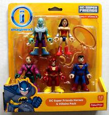 """IMAGINEXT DC SUPER FRIENDS HEROES AND VILLAINS  W/WONDER WOMAN 3"""" FIGURES MOC"""
