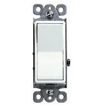 10PK Decorator 15A Rocker Switch Single Pole Light Controller White