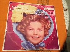 SHIRLEY TEMPLE HITS - MORE LITTLE MISS WONDERFUL - Orig.1961 Aus Lp mono VG+