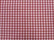 Gingham Check Foxcote Cotton Blend Designer Curtain Upholstery Craft Fabric
