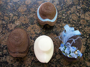 """LATEST !  RESIN CL17 FRENCH FASHION HAT MOLD, FORM 12"""" DOLL HEAD 6 TO 6 1/2"""""""