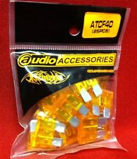 40 Amp ATC/ATO Blade Fuses (25-Pack) Impact-Resistant Plastic Casings