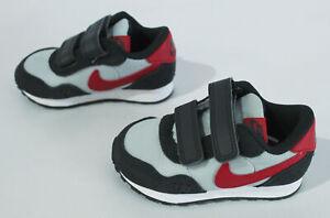 Nike Unisex MD Valiant Casual TDV Shoes HD3 Grey Fog/Red CN8560-003 Size US:6C