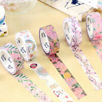 Pop DIY Floral Washi Sticker Decor Roll Paper Masking Adhesive Tape Craft Gift #