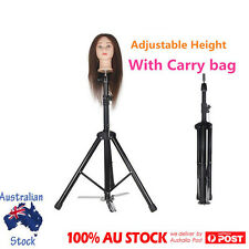 Adjustable Tripod Stand Hairdressing Training Mannequin Manikin Head Doll Holder