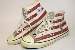 Converse All Star Mens 11.5 46 Patriotic Shearling Lined Canvas Sneakers 141272C