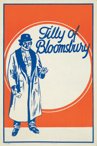 Original Vintage Poster England Theater Tilly of Bloomsbury 1919