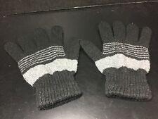 Girls gloves winter black gray