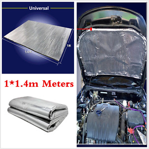 Car Heat Shield Mat Auto Turbo Exhaust Muffler Hood Insulation Barrier Pad 1×1.4