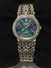 GENUINE Waltham 30P diamond bezel & opal dial Silver 925 USED product