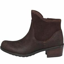 UGG® AUSTRALIA PENELOPE BROWN LEATHER ANKLE BOOTS UK 4 EUR 35 US 5 BNIB RRP £150
