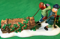 Department 56 BRINGING HOME THE YULE LOG 55581 Heritage Village NEW MinT PERFECT