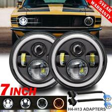 """2x 7"""" inch 280W LED Headlight DRL Angel Eyes DOT Lamp for Ford Mustang 1965-1973"""
