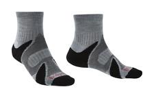 Bridgedale Men's Trail Sport LW ankle Socks 6 Pairs Medium 6-8.5 silver/black