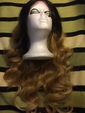 Stunning Lace Front,26in,Two Tone(Black & Blond) wavy wig,heat resistant,superb.