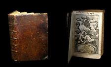 [PHILOSOPHIE STOICISME SENEQUE] JUVENAL & PERSE - Satires, trad. MAROLLES. 1658.