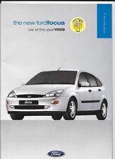 FORD FOCUS CL, ZETEC, ZETEC 2.0i, LX,GHIA, GHIA 2.0i CAR BROCHURE ED.2 1999 2000