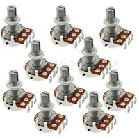 10pcs B500K Split Shaft Pots Potentiometer Electric Guitar Volume Switch 18mm