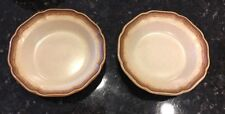 "2 MIKASA WHOLE WHEAT RIMMED SOUP BOWLS 8 1/2"" - E8000 - Lot #1"