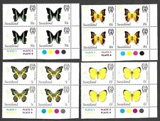 More details for swaziland 1982 butterflies in corner plate blocks x 4 values
